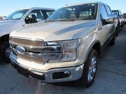 2018 ford f150 king ranch 5 miles white gold crew cab pickup