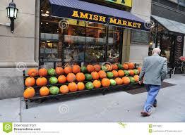 new york city halloween amish market in manhattan new york city editorial photo image