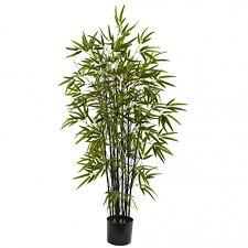 4 foot artificial black bamboo tree potted 5417
