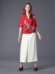 dvf blouse sleeve cross blouse landing pages by dvf
