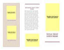free tri fold brochure templates for word images