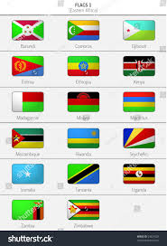 Flags Of Countries Flags Eastern Africa Countries 2 Stock Vektorgrafik 24621829
