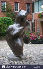 sculpture of a bear in a square in the byward market area of