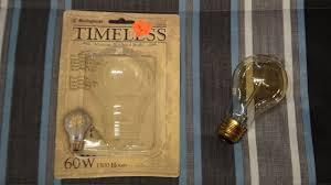 westinghouse vintage a19 60watt incandescent light bulb youtube
