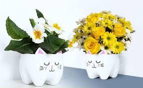 Diy Plastic Bottle Vase Diy Plastic Bottle Cat Planter U2013 Of Course I Love Handicrafts