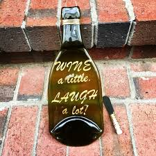 flattened wine bottle platter wine a laugh a lot melted wine bottle tray this melted