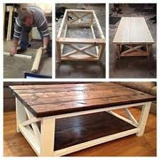 How To Build A Farmhouse Bench How To Build A Diy Coffee Table Chunky Farmhouse Woodworking