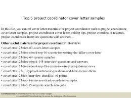 Sample Resume Of Project Coordinator Great Sample Cover Letter For Project Coordinator 30 About Remodel