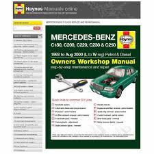 haynes manuals online mercedes benz c class c180 c200 c220