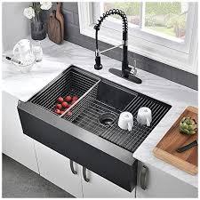bowl kitchen sink for 30 inch cabinet 30 farmhouse kitchen sink black vasoyo 30 inch matte black flat apron front kitchen sink workstation 16 stainless