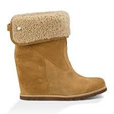 s ugg australia brown zea boots amazon com ugg australia s kyra fold wedge bootie