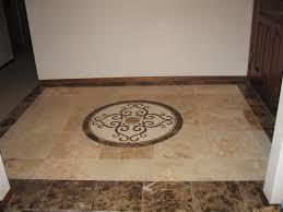 beautiful tile floors comfortable marble tiles with mosaic inset