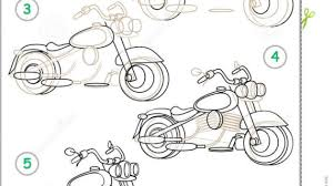 motorcycle drawing step by step how to draw a motorcycle step by