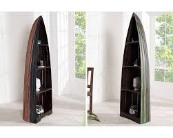 etagere pour vernis meuble de rangement en forme de coque de bateau en bois d u0027une