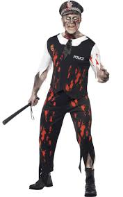 zombie police officer men u0027s costume zombie halloween costume