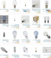 ceiling fan light bulb size light bulbs for microwave refrigerator oven range hoods throughout