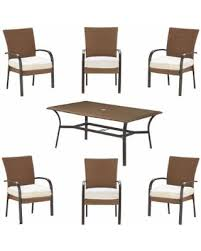 Wicker Patio Dining Sets Fall Sale Hampton Bay Corranade Custom 7 Piece Wicker Outdoor