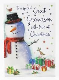 christmas card for special great grandson greeting verse luxury
