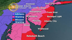 Map Of Wildwood Nj Blizzard Warning Issued For Parts Of New Jersey Cbs Philly
