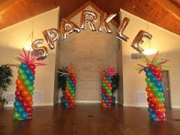 how to make a rainbow personalized balloon name arch with 260