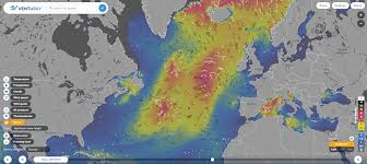 Swell Maps Shipping Routes Showing Relative Density Of Commercial Shipping