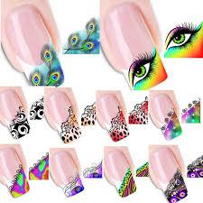 aliexpress com buy 50pcs stickers nail art tips french