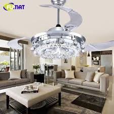 Aliexpresscom  Buy FUMAT LED Ceiling Fans Crystal Light Dining - Dining room ceiling fans