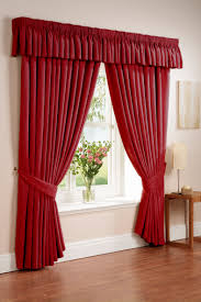 interior inspiring home interior design with red maroon drapery