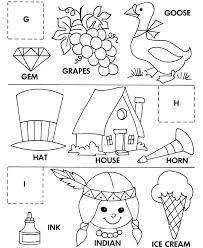 alphabet cut u0026 paste abc activity sheets letter matching g h i