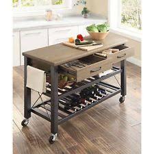 Mainstays Kitchen Island Cart Unbranded Wood Metal Kitchen Islands U0026 Carts Ebay