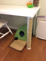 diy scratching post desk legs 4 steps with pictures