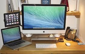 Small Desk Solutions Mac Setups The Desk Of A Cloud Solutions Provider
