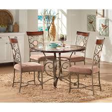 acme furniture burril 5 piece round dining table set hayneedle