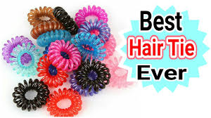 creaseless hair ties waterproof plastic hair tie review