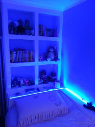 cool lights in bedroom ideas with led light glow under the bed