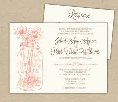 wedding invitations layout wedding invitation ideas lovely white jar wedding