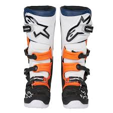 motocross boots alpinestars alpinestars mx boots tech 7 black orange white 2018 maciag offroad