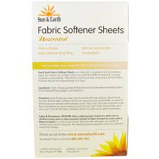 sun u0026 earth fabric softener sheets unscented 80 perforated