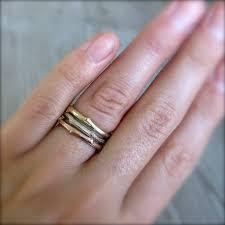 three ring wedding set twig branch wedding band set kristin coffin jewelry