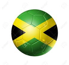 Green White And Yellow Flag 3d Soccer Ball With Jamaica Team Flag Isolated On White With