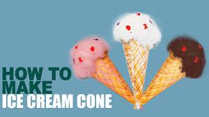 how to make ice cream cone learn art and craft diy ice cream