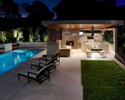 Home Design Ideas With Pool Worthy Backyard Designs With Pool And Outdoor Kitchen H97 For Home