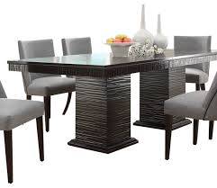 espresso dining table with leaf chicago dining table trending concrete designs by urbia design