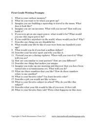 grade writing prompts pdf language arts printables
