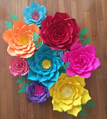 8 pc giant paper flowers fiesta theme frida kahlo mexican