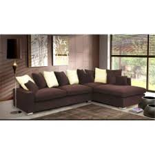 canapé d angle marron meublesline canapé d angle 5 places luxe tissu chocolat beige