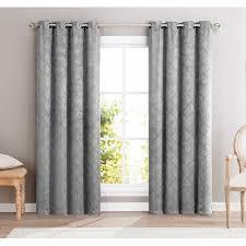 Light Grey Blackout Curtains Hlc Me Redmont Lattice Wide Width Thermal Blackout Grommet Curtain