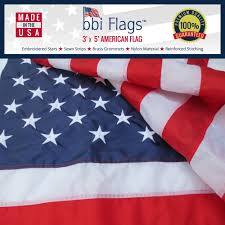 3 X 5 Flags American Flag 100 Made In Usa Nylon Us Flags Embroidered And