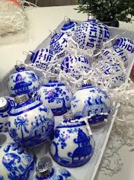 blue and white painted ornaments by mahnke on etsy