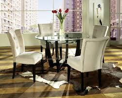 Glass Circular Dining Table Furniture Amazing Design Of The Metal Dining Table With